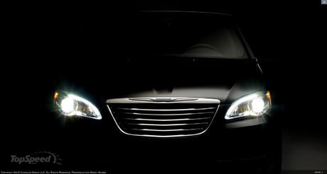 chrysler drops teaser photos of 200c sedan