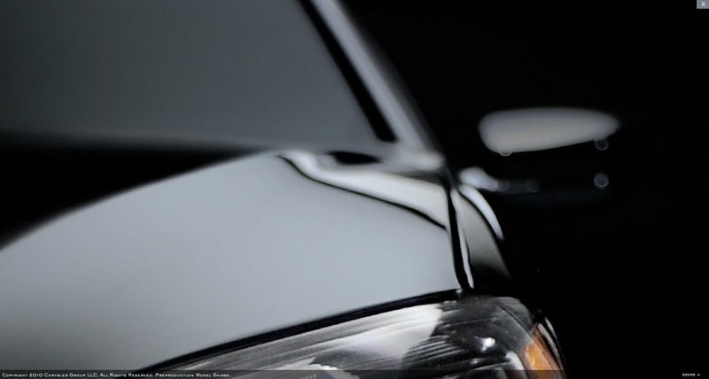 Chrysler drops teaser photos of 200C sedan wallpaper image