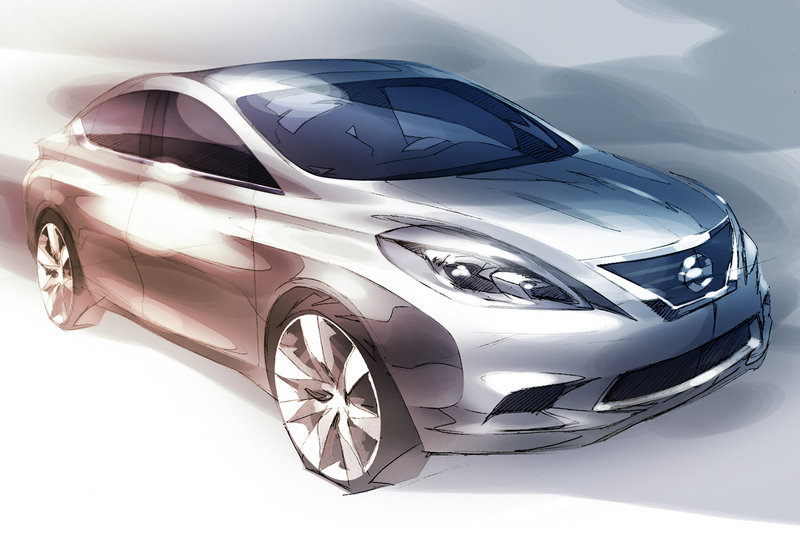 Next-Generation Nissan Versa - first sketch revealed