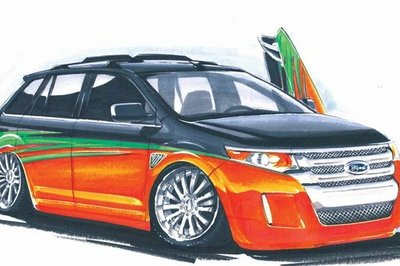 Sun, Sand, and SEMA: Ford Edge given 'Surf's Up' treatment for SEMA 2010