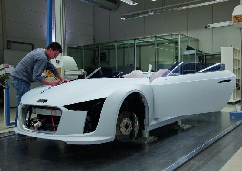 The process of building the Audi e-Tron Spyder High Resolution Exterior - image 379162