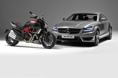 AMG and Ducati strike their own partnership at the LA Auto Show