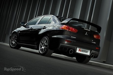 akrapovic adds some growl to the mitubishi evo x