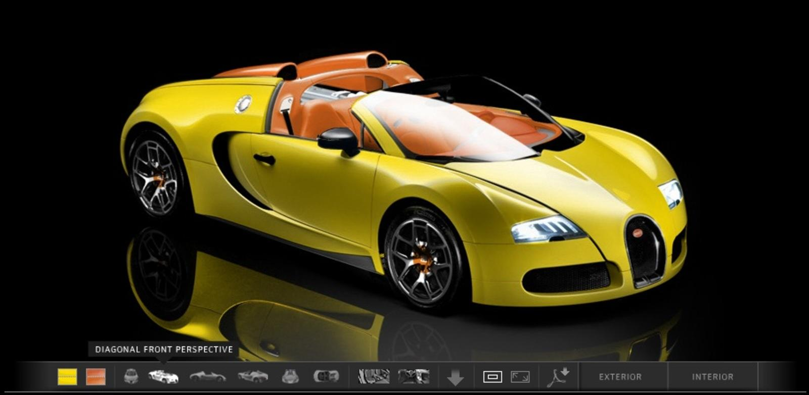 Great Bugatti Launches New Configurator For Its Veyron Models