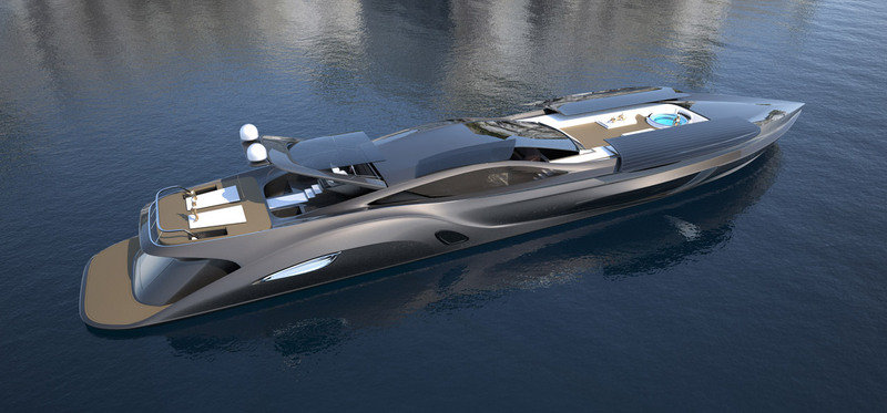Strand Craft 166 Super Yacht by Gray Design comes with a Supercar Tender Exterior - image 387531