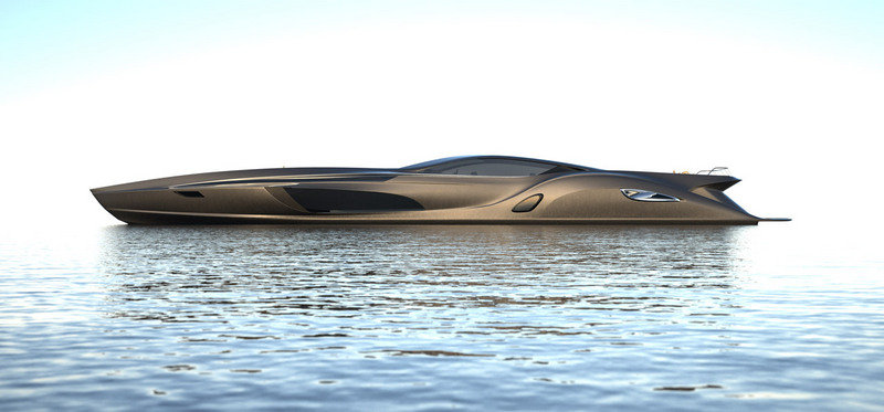 Strand Craft 166 Super Yacht by Gray Design comes with a Supercar Tender Exterior - image 387532