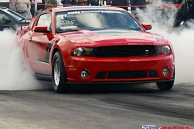 Roush Mustang JDM Drag car makes the quarter mile in 9.9s; 9.6s to follow