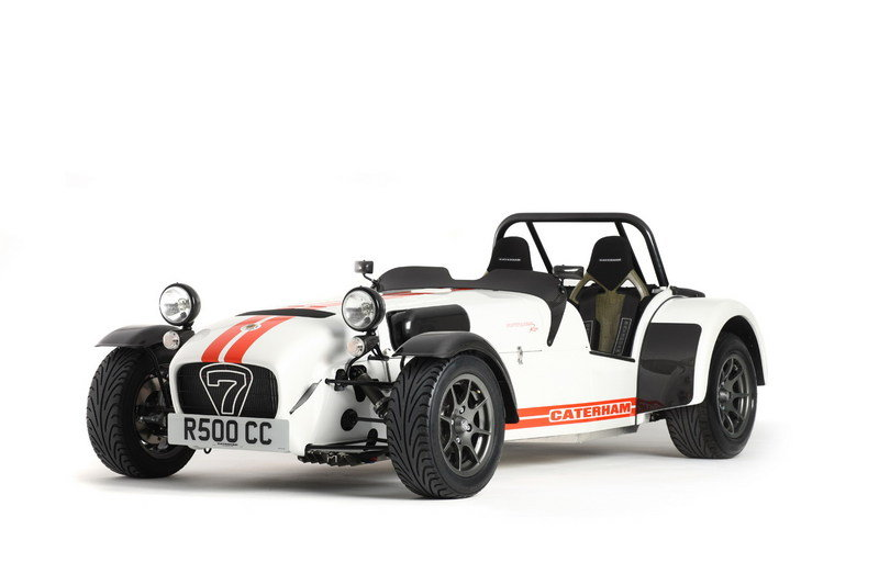 The Stig's Caterham Superlight R500 takes its final lap