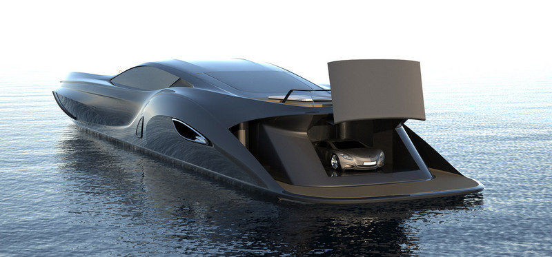 Strand Craft 166 Super Yacht by Gray Design comes with a Supercar Tender