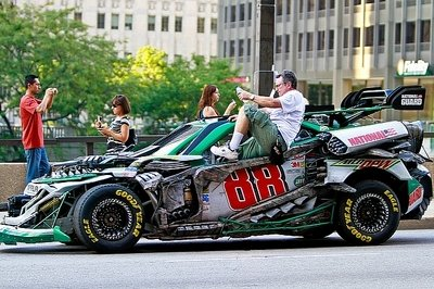 NASCAR Transformers spotted on Transformers 3 set
