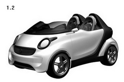 SMART files patent on new Roadster Concept design Exterior - image 388031