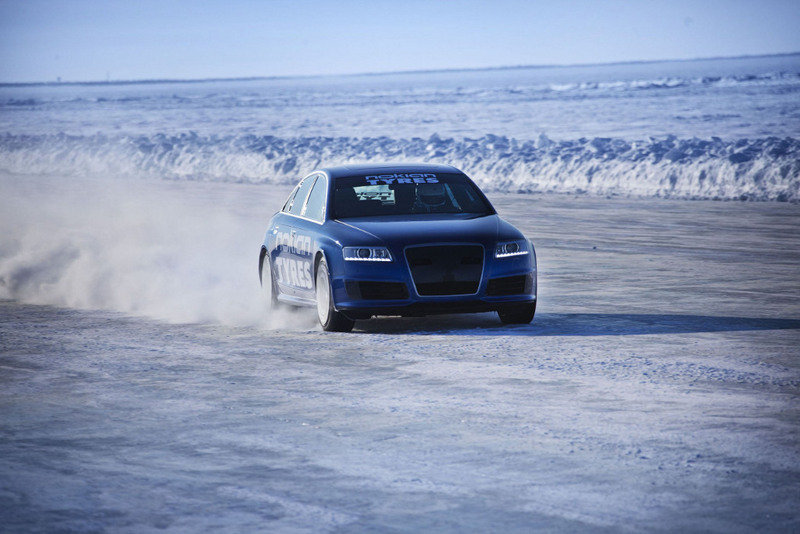 Audi RS6 becomes fastest car on ice