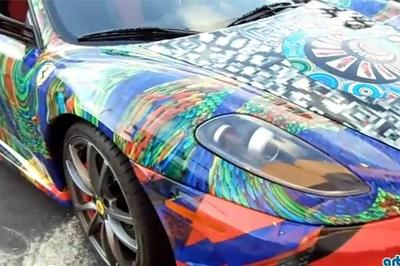 Laurence Gartel shows the psychedelic side of a Ferrari F430 Scuderia