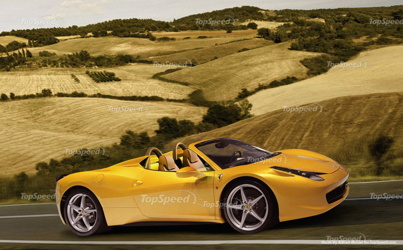 2012 Ferrari 458 Italia Spider High Resolution Exterior Computer Renderings and Photoshop - image 399014