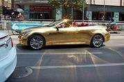 Grab your sunglasses; this Infiniti G37 Cabriolet is covered in 24K gold - image 398214