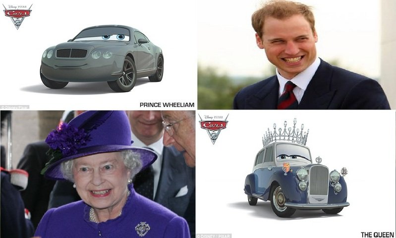 Prince William and Queen Elizabeth II join Cars 2 cast in animated form