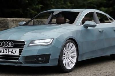 Video: Artist builds Audi A7...made out of paper