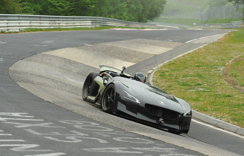 Peugeot EX1 Concept claims the title for the fastest electric car at Nurburgring