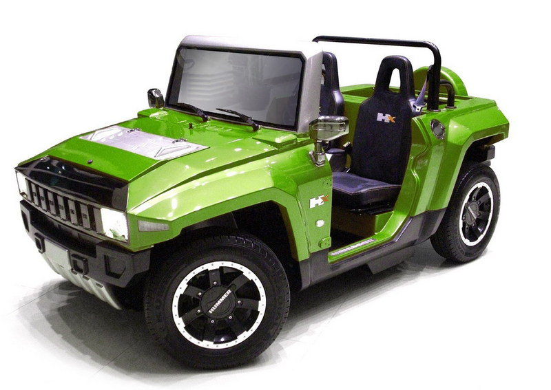 Mini Electric Hummer Golf Cart minimizes the Hummer's greatest faults