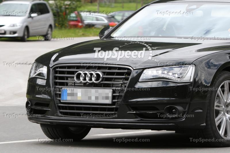 Audi S8 spied testing in the European Alps