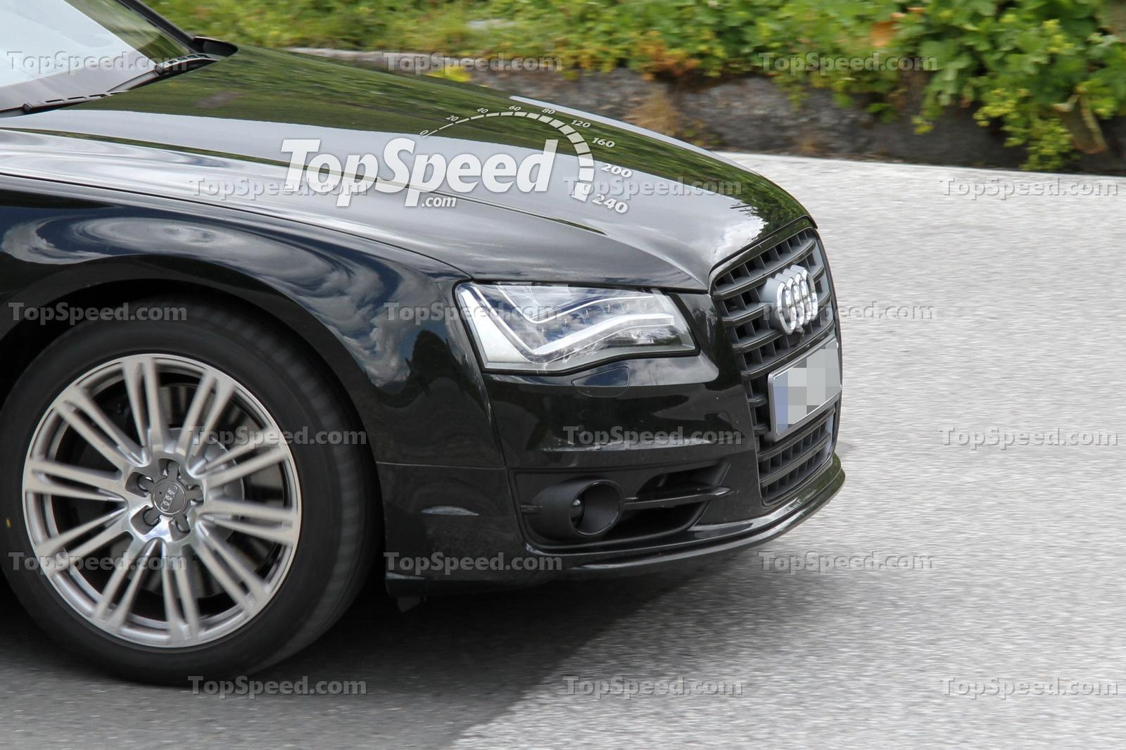 Spied! Audi S8 Caught Naked in the Alps