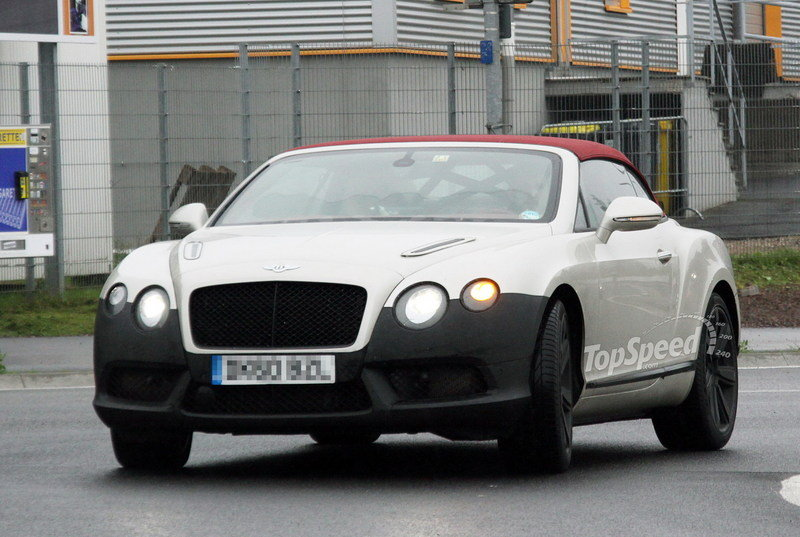 spy shots 2012 bentley gtc speed flexes its muscle at nurburgring picture