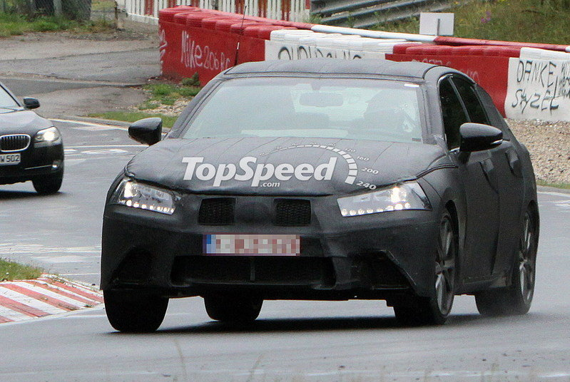 Spy Shots: 2012 Lexus GS shows off its LF-Gh-inspired grille at the Nurburgring