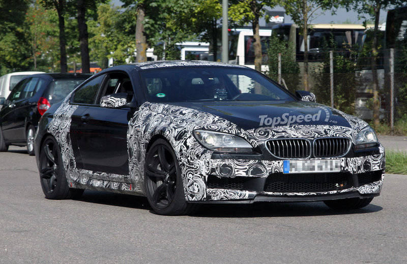 Spy Shots: Next BMW M6 starts losing its camouflage