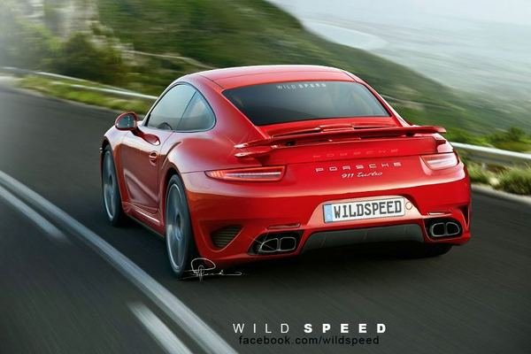 2013 porsche 911 turbo rendered picture