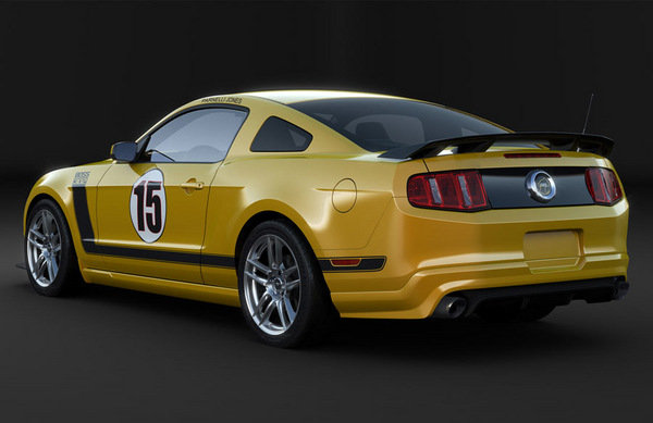 2012 Ford Mustang Boss 302 Laguna Seca School Bus Yellow