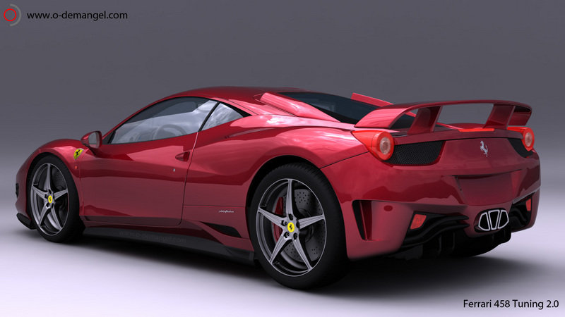 French designer re-interprets the Ferrari 458 Italia