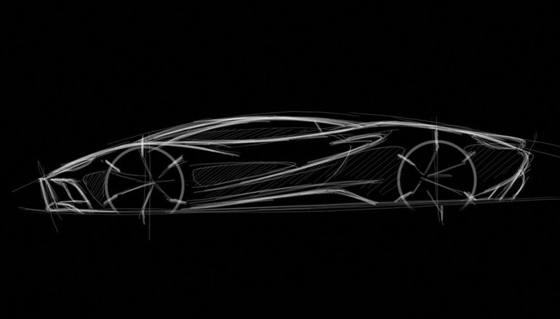 Sketch drawings of future Eterniti supercar teased at Frankfurt