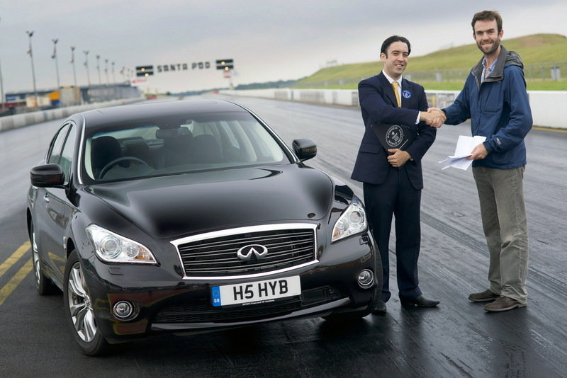 Infiniti M35h Hybrid earns record for fastest accelerating full hybrid