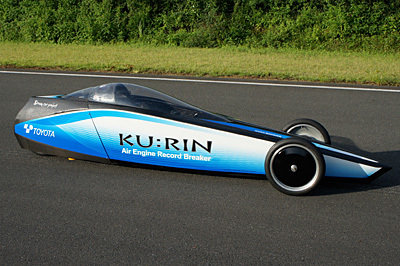 Toyota Ku:Rin sets new compressed air top speed record