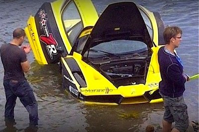 ZR Auto splashes Edo Ferrari Enzo into the Atlantic Ocean