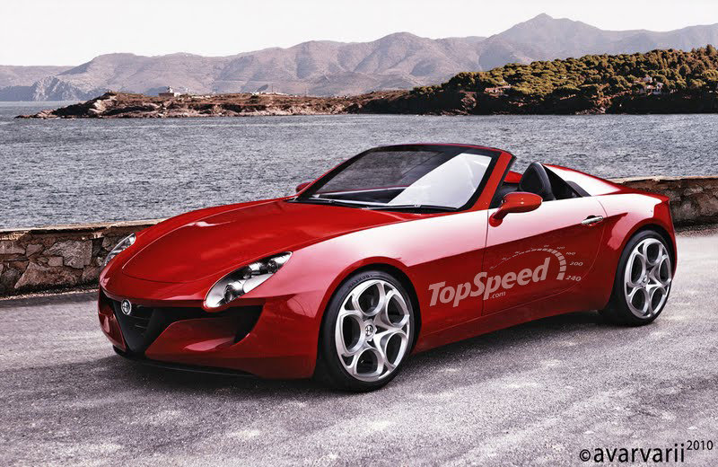 2014 Alfa Romeo Spider Exterior Computer Renderings and Photoshop - image 419546
