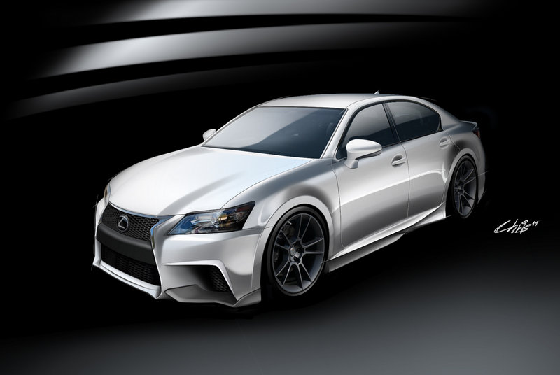 2013 Lexus GS F Sport by Five Axis High Resolution Exterior Drawings - image 422053