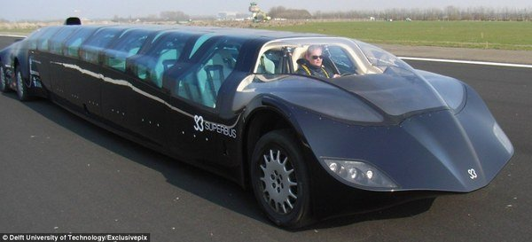 """World's First """"super Bus"""" Can Hit 155 Mph News"""