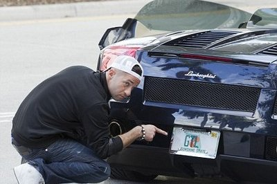 "Mike ""The Situation"" Sorentino's Lamborghini Gallardo Spyder with ""GTL"" personalized plate"