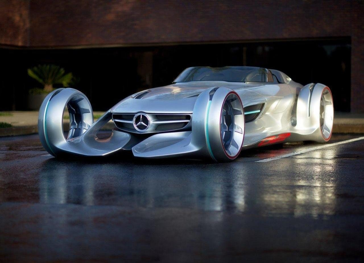 Mercedes benz silver lightning фото
