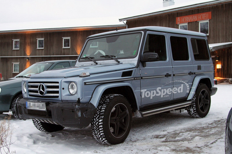 Spy Shots: Mercedes G55 AMG caught during winter testing