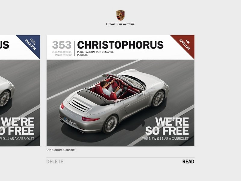 Free iPad App for motorheads: Christophorus Porsche magazine