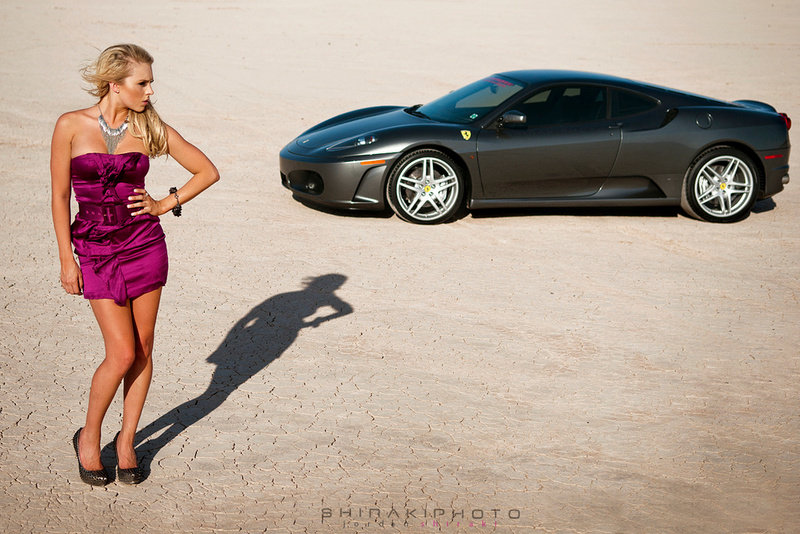 Photo Shoot: The Ferrari F430 has a thing for Blondes