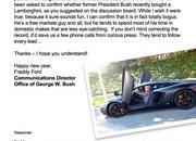 George W. Bush's rumored Aventador purchase catches government attention - image 432682
