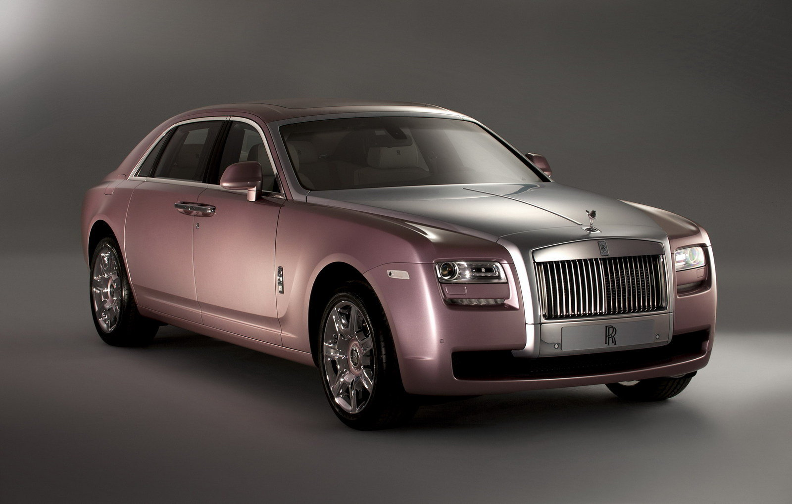 2012 Rolls Royce Ghost Matte Black And Rose Quartz