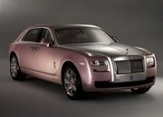 Rolls Royce Ghost Matte Black and Rose Quartz