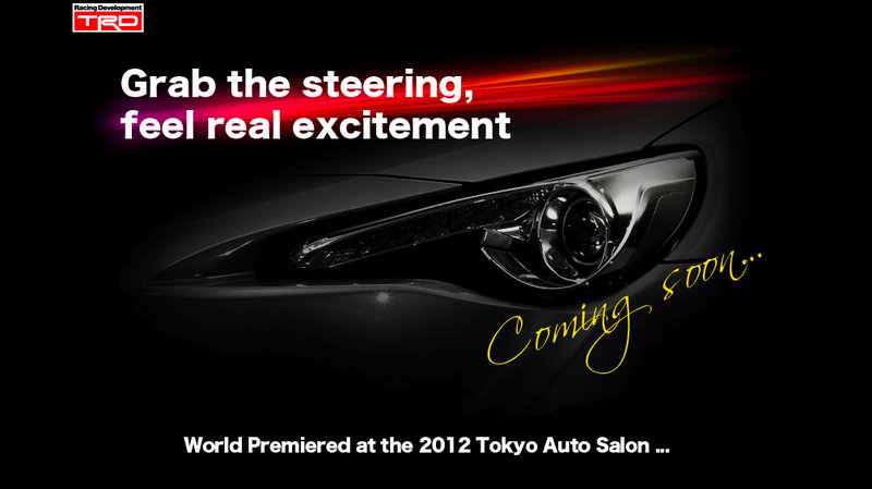Toyota drops teaser on TRD-developed GT-86 sports car