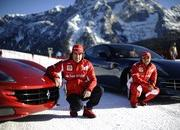 Video: Alonso & Massa with the Ferrari FF on the snow - image 433945