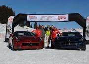 Video: Alonso & Massa with the Ferrari FF on the snow - image 433942
