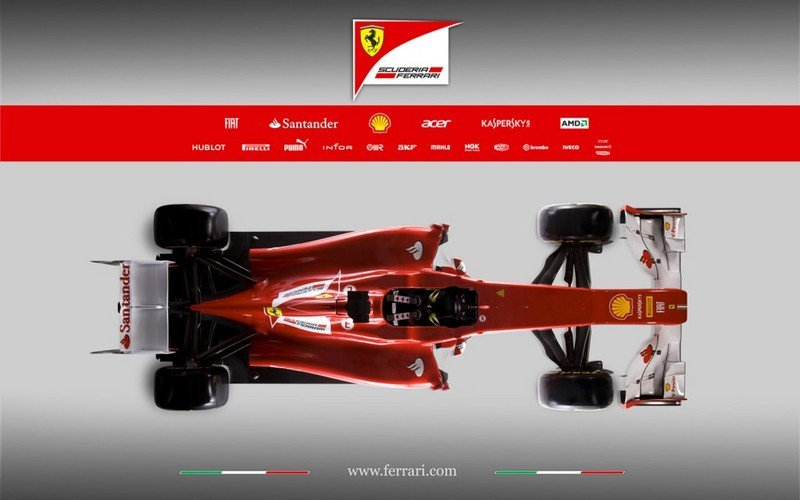 2012 Ferrari F2012 Formula 1 Race Car